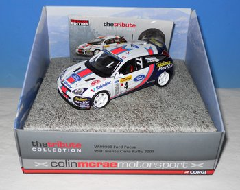 Corgi Vanguards VA 99900 Ford Focus in de WRC Monte Carlo Rally van 2001