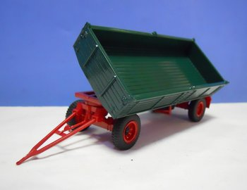 Golden Oldies 2703 tipping trailer, in green with a red chassis