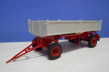 Golden Oldies 2701 tipping oldtimer trailer in grey with a red chassis