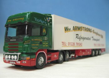 Tekno 10385 Scania W.M. Armstrong Longtown Ltd. Refrigerated Transport uit Cumbria