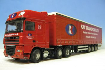 Tekno 32546 DAF Kay Transport Ltd. uit Plymouth in Engeland